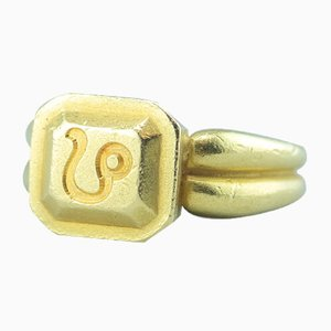 Bague Lion Corde en Or 18 Carats par Barry Kieselstein, 1990s