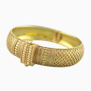 18 Karat Yellow Gold Oriental Bracelet, 1980s