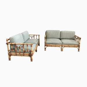 Bamboo Sofas from Vivai del sud, 1970s, Set of 2