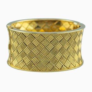 Pulsera francesa de oro amarillo de 18 quilates, años 60