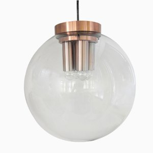 Grande Lampe à Suspension Globe Mid-Century en Verre de Raak, Pays-Bas, 1960s