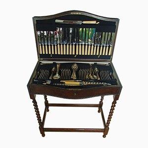 Tisch & Besteck Set aus Eichenholz von Harrison Fisher & Company, 19. Jh