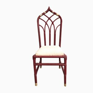 Vintage Italian Bamboo Dining Chairs, 1970s, Set of 6
