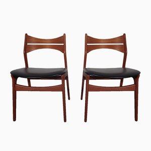 Modell 310 Esszimmerstühle von Erik Buch für Christian Christensen, 1960er, 2er Set