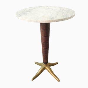 Mesa de bistró italiana de mármol, años 50