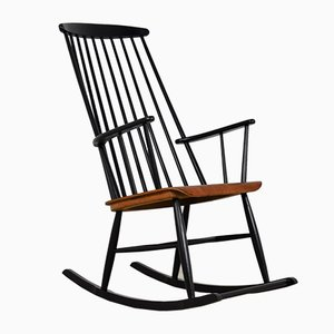Mid-Century Rocking Chair Attributed to Ilmari Tapiovaara, 1950