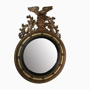 Antique Wooden Mirror with Eagle, 1820s