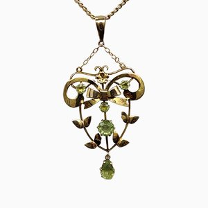 Antique Edwardian Peridot Necklace