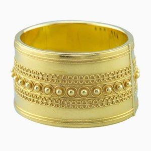 Pulsera de oro amarillo de 18 quilates de Peter Heyden, años 60