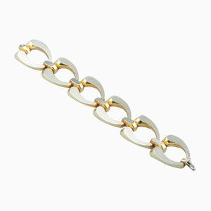 Large 14 Karat Gold Bracelet by Hugo Gruen, 1960s