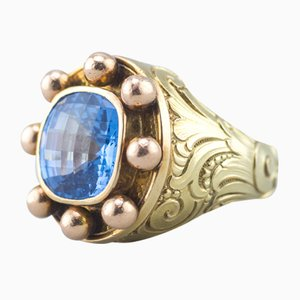 Baroque Style 14 Karat Yellow Gold Ring, 1980s