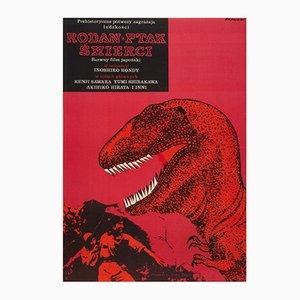 Rodan The Flying Monster Film Poster by Janusz Rapnicki, 1967
