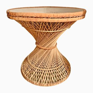 Wicker Tam Tam Side Table, 1970s