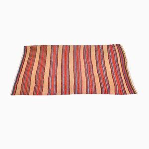 Gestreifter Türkischer Vintage Teppich aus Wolle, 1950er