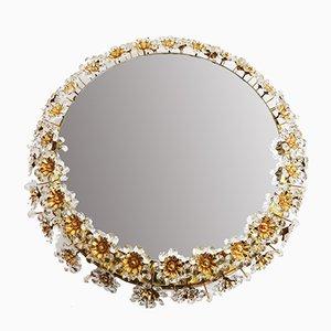 Mid-Century Floral Illuminated Mirror from Palwa