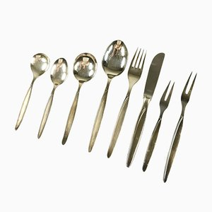 Mid-Century Silver Cutlery Set from Auerhahn, Set of 51