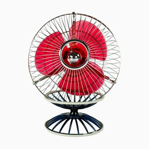 Vintage Japanese Portable Model B-445 Table Fan from Hitachi