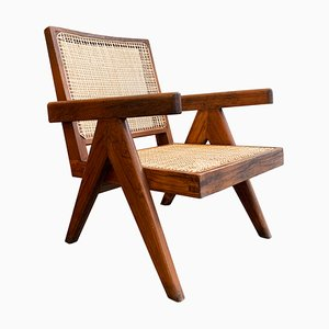 Rosewood and Cane Easy Chair by Pierre Jeanneret, 1950s