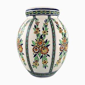 Große Art Deco Vase von Charles Catteau für Boch Freres Keramis, Belgien, 1920er