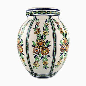 Large Art Deco Vase by Charles Catteau for Boch Freres Keramis, Belgium, 1920s