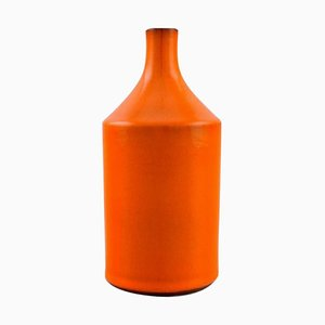Vase in Orange Glazed Ceramic by Georges Jouve, France, 1950s