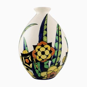 Art Deco Vase by Charles Catteau for Boch Freres Keramis, Belgium, 1920s