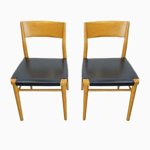 Bauhaus Beech Chairs by Georg Leowald for Wilkhahn, 1960s, Set of 2