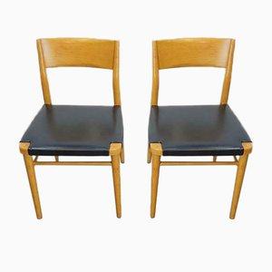 Chaises Bauhaus en Hêtre par Georg Leowald pour Wilkhahn, 1960s, Set de 2