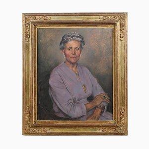 Portrait Peint à l'Huile par Max Moreau