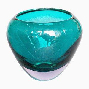 Vase aus Lavendel und grünem Glas, 1960er