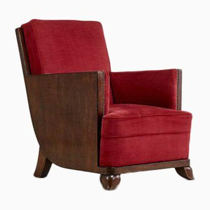 Vintage Art Deco Rosewood Armchairs, France, 1930s, Set of 2