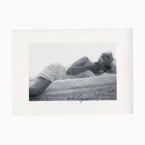 Marilyn Monroe Wine on the Bed the Last Sitting by Bert Stern, 2009
