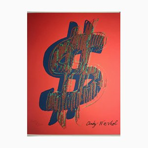 Grano Lithograph Dollar Sign in Red by Andy Warhol, 1986