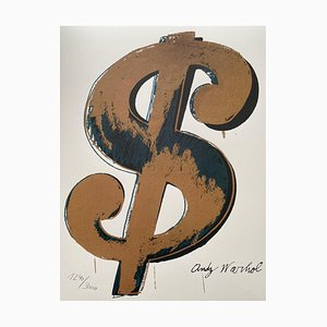 Dollar Gold Grano Lithograph by Andy Warhol, 1986