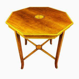 19th Century Victorian Octagonal Mahogany Pedestal Table