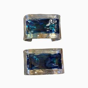 Mid-Century Italian Murano Glass Sconces from La Murrina, 1970s, Set of 2