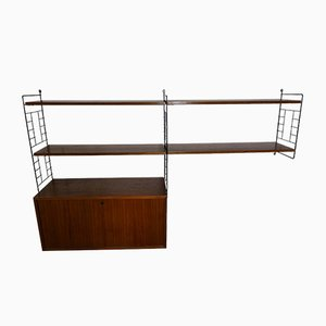 Vintage Teak String Shelf from Erbus, 1960s