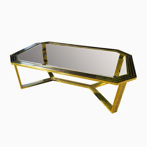 Large Brass Coffee Table from Romeo Rega, 1970s