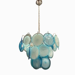 Murano Glass Disc Chandelier by Gino Vistosi, 1970s