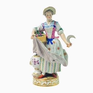 Figurina Lady Gardener, XIX secolo di MV Acier per Meissen