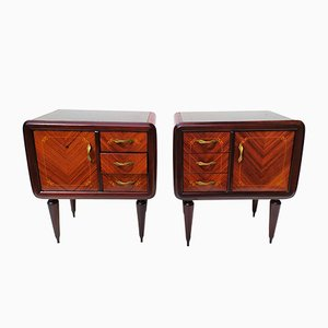 Mahogany Nightstands by Paolo Buffa, 1940s, Set of 2