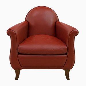Leather Model Lyra Lounge Chair by Renzo Frau for Poltrona Frau, 1930s
