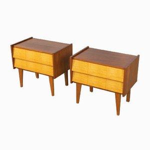 Tables de Chevet Bicolores, 1950s, Set de 2