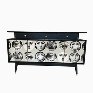 Mid-Century Sideboard with Fornasetti Decoupage by Donald Gomme for Gomme, 1950s