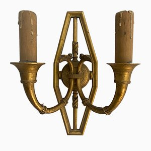 19th Century French Gilt Bronze Sconces, Set of 2