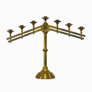 19th Century Gilded Brass Church Candleholder