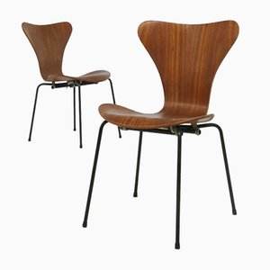 Mid-Century Butterfly Rosewood Dining Chairs by Arne Jacobsen for the Brazilian Airline, Set of 6