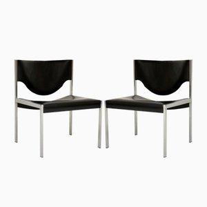 Dänische Vintage Stahl Sessel, 1960er, 2er Set