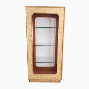 Mueble bar vintage de ratán con el estilo de Vivai Del Sud