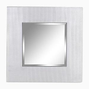 Square Cast Aluminum Mirror by Lorenzo Burchiellaro, 1970s